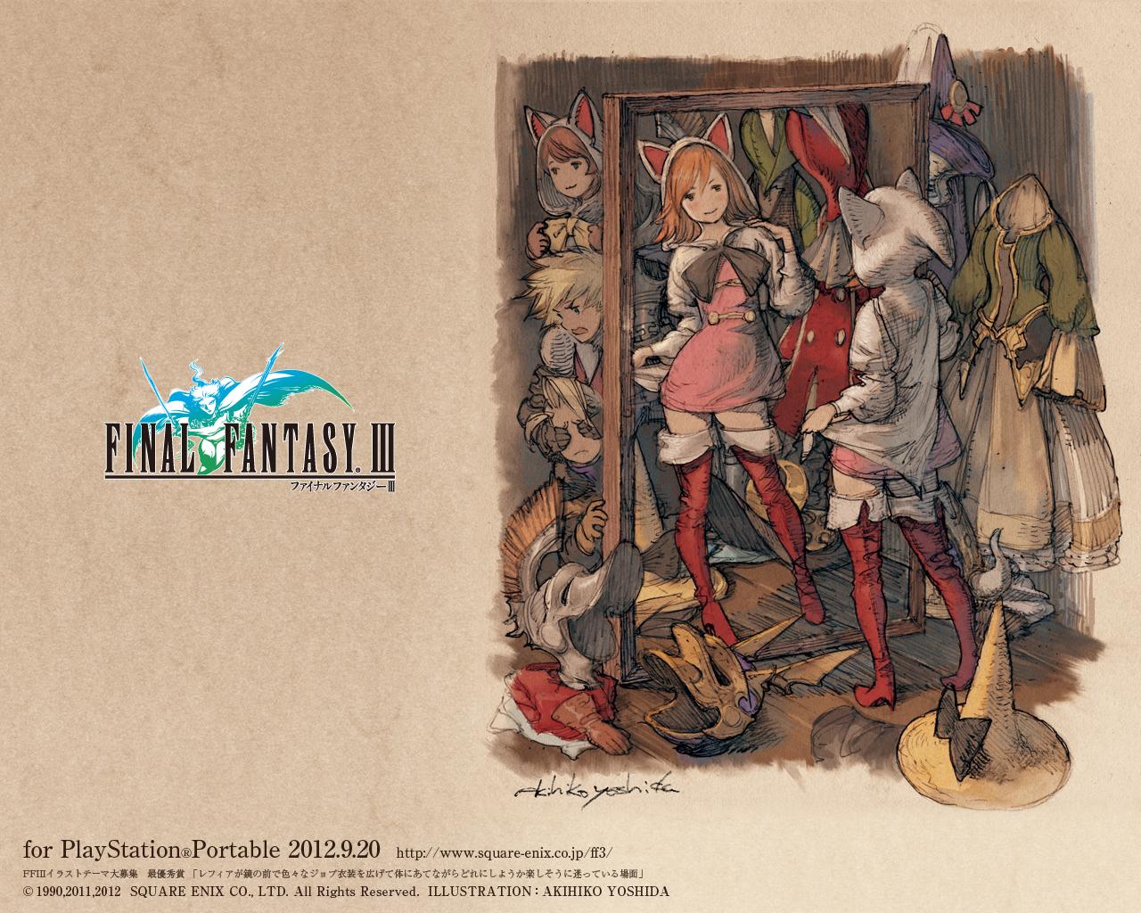psp最终幻想3 psp最终幻想7降临之子 最终幻想壁纸 2